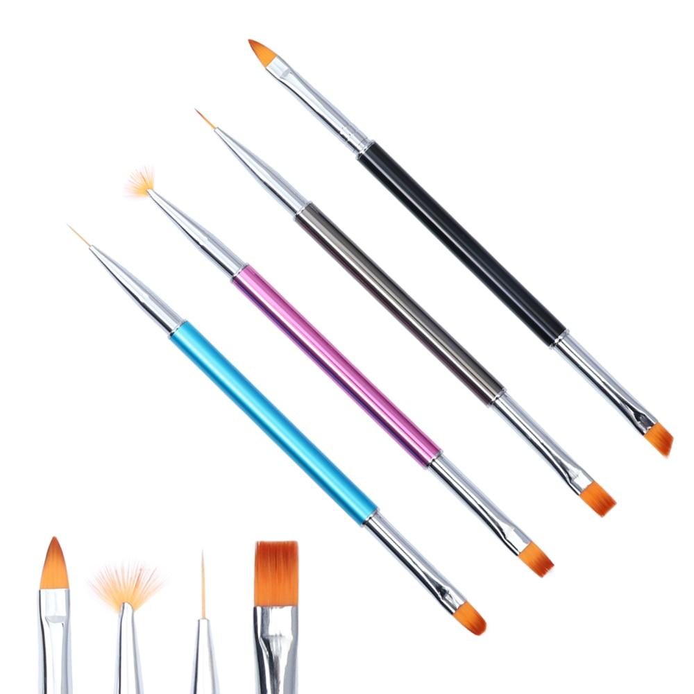 1PCS Nail Liner Brush UV Gel Polish Acrylic 3D Flower Striping Carving Pen Gradient Painting Brush Manicure Nail Art Tools SAP06