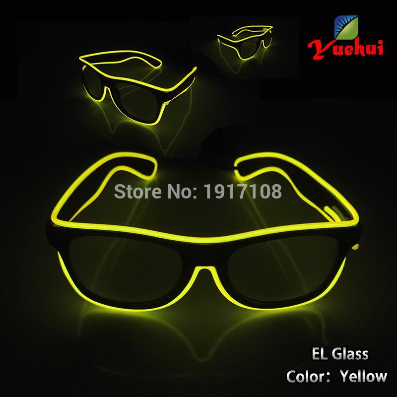 뜨거운 10 색 옵션 패션 사운드 활성 EL 와이어 일요일 안경 라이트 파티 장식을위한 LED 안경 장식