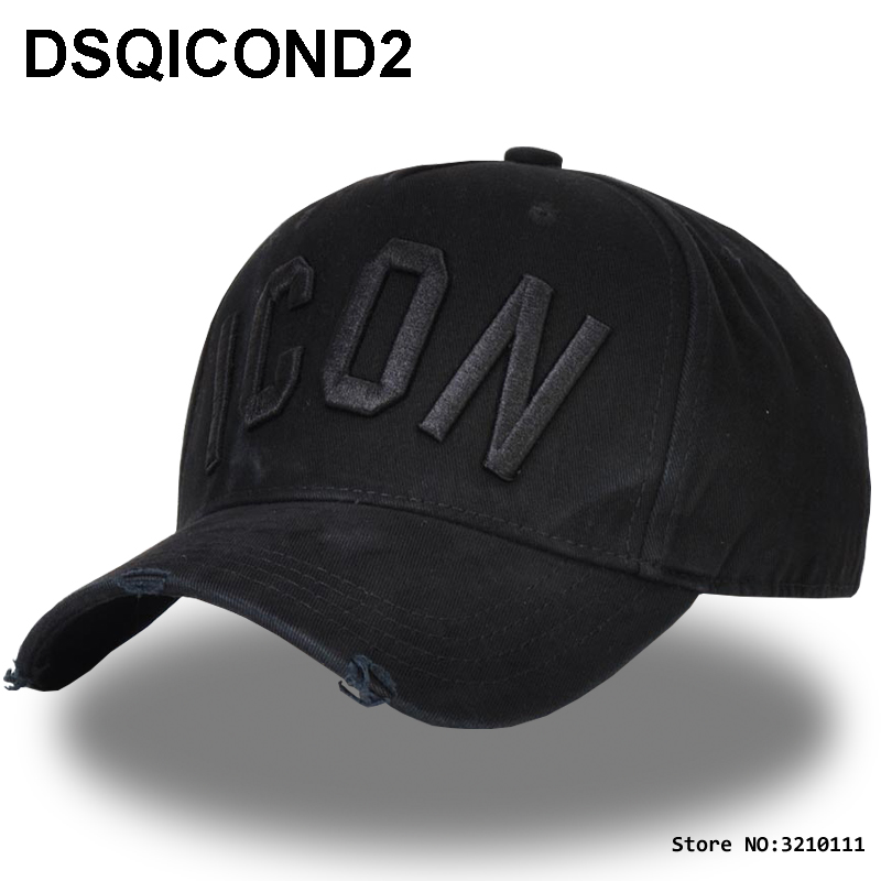 différents types de amazon acheter authentique US $9.7 50% OFF|DSQICOND2 Brand DSQ ICON Casquette Dad Hip Hop Baseball Cap  Casquette Hats Solid Pattern Hats Letters Snapback Cap for Man caps-in ...