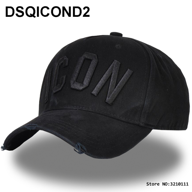 code promo 714c5 b75be US $9.44 50% OFF|DSQICOND2 Brand DSQ ICON Casquette Dad Hip Hop Baseball  Cap Casquette Hats Solid Pattern Hats Letters Snapback Cap for Man caps-in  ...
