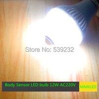 12 Watt E27 warmweiß/Weiß Licht Körper Infrarot Sensor PIR Motion Sensor Detection LED Glühbirnen AC220V