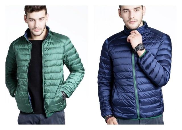 CHERRY CHICK Mens Reversible Puffer Down Jacket Light Weight Winter  Outerwear Packable Puffer Coat Warm Jacket Parka 0ff3e9e3f7