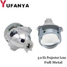 3.0 inç araba Bi xenon H1 hid Projektör lens metal tutucu için H1 H4 H7 araba motosiklet model araba far hid güçlendirme