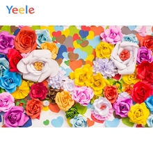 Yeele Blossom Bright Flowers Photography Backdrops Baby Portrait Wedding Personalized Photographic Backgrounds For Photo Studio bright baby blankies