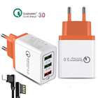 5V 2.4A Max QC 3.0 Phone Charger Qualcomm 3.0 Fast USB Phone Charger for iPhone Samsung Universal 3.0 Quick Travel Wall Charger