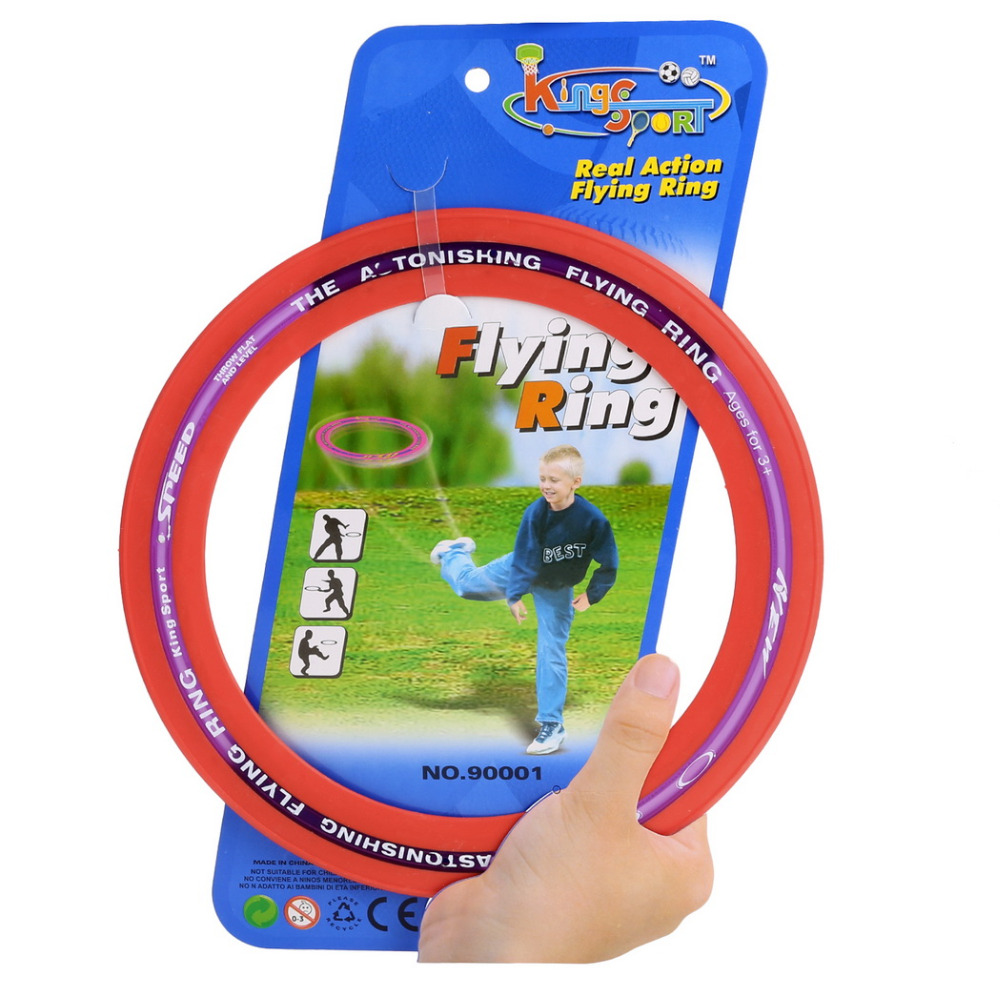 New kids toy Sporting Flying Disc Big Throw And Catch Flying Disc 9.8inch Education Outdoor Toy Classic Ring Shape Gife for kids