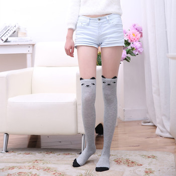 Funny cartoon cat stockings cute animal knee socks women happy high Japanese spring autumn fashion new