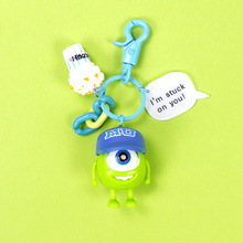 New Q Version Monsters Inc. University Mike Wazowski Sully Keychain Action Figure Model Toys Dolls Gift Keyring