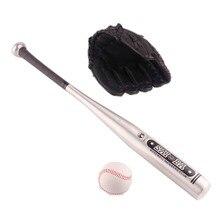 1set Aluminum Beisbol Baseball Bat +Glove +Ball Bate Taco Ba