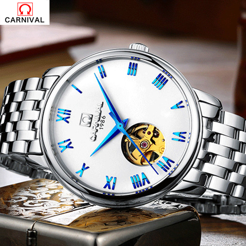 Top Brand Luxury Automatic Watch Clo Carnival Blue Ocean Fashion Casual Designer Stainless Steel Men Skeleton Watch Mens WatchesTop Brand Luxury Automatic Watch Clo Carnival Blue Ocean Fashion Casual Designer Stainless Steel Men Skeleton Watch Mens Watches