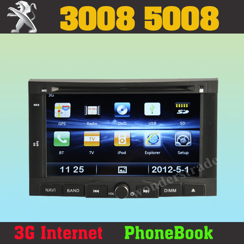 car dvd player autoradio gps navigation for peugeot 3008 5008 3g rh aliexpress com Peugeot 5008 Peugeot 5008