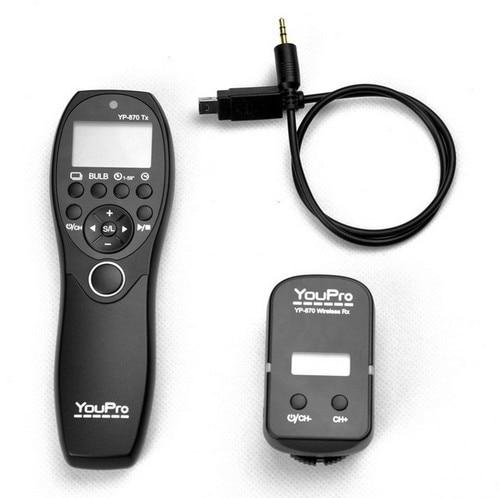 YouPro YP-870/DC2 télécommande de minuterie d'obturation sans fil pour Nikon D750/D7100/D7000/D5200, D5100, D5000, D3200, D3300, D3100, D600