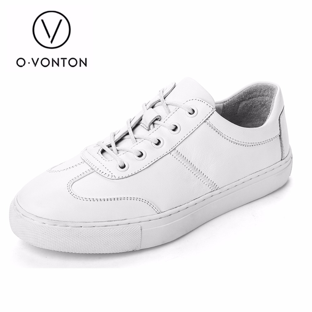 Q.VONTON New 2017 Genuine Leather Women Casual Shoes Women Flats Platform Shoes Fashion Lace-up White Students Shoes 2017 new women shoes genuine leather casual shoes flats breathable lace up soft fashion brand shoes comfortable round toe white