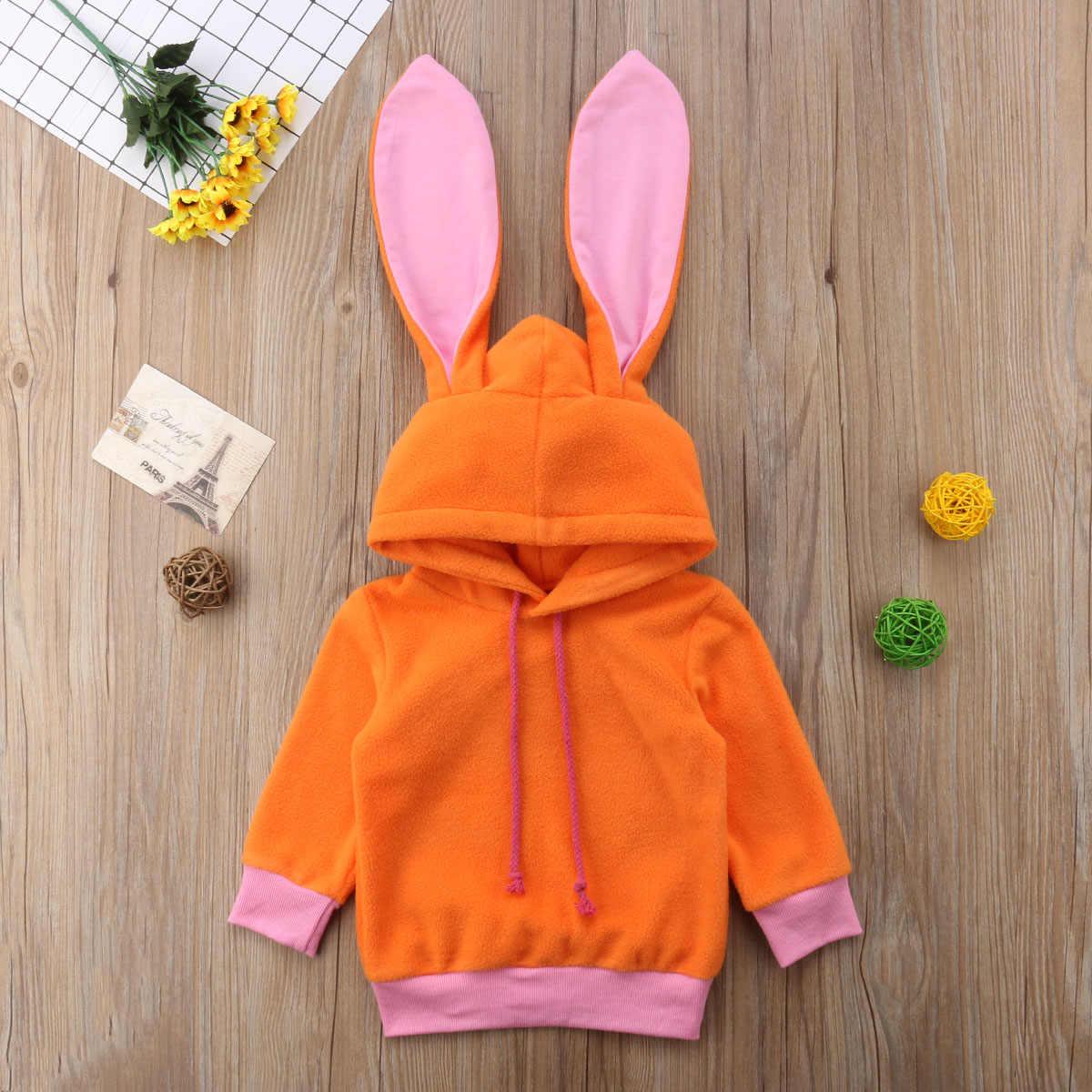 2018 멀티 트러스트 브랜드 겨울 가을 패션 아기 소녀 보이 스웨터 까마귀 오렌지 귀여운 코트 탑 토끼 귀여운 유아 의류 0-24 m