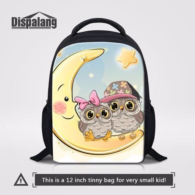 52b59c1231d6 Dispalang Preschool Baby Kids Kindergarten Book Bag Cute Cartoon Moon Owl Children  Toddler School Bags Small Travel Backpack Bag