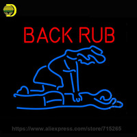 Back Rub With Logo Neon Sign Decorate Glass Tube Neon Bulb Store Indoor Huge Personalized Sign