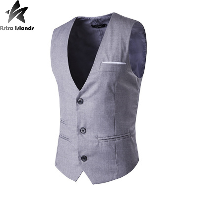 2016 New Arrival Men's Suit Blazer Waistcoat Single Breasted Cotton Fashion Casual Bussiness Vest 4 Colors Plus Size Mt159