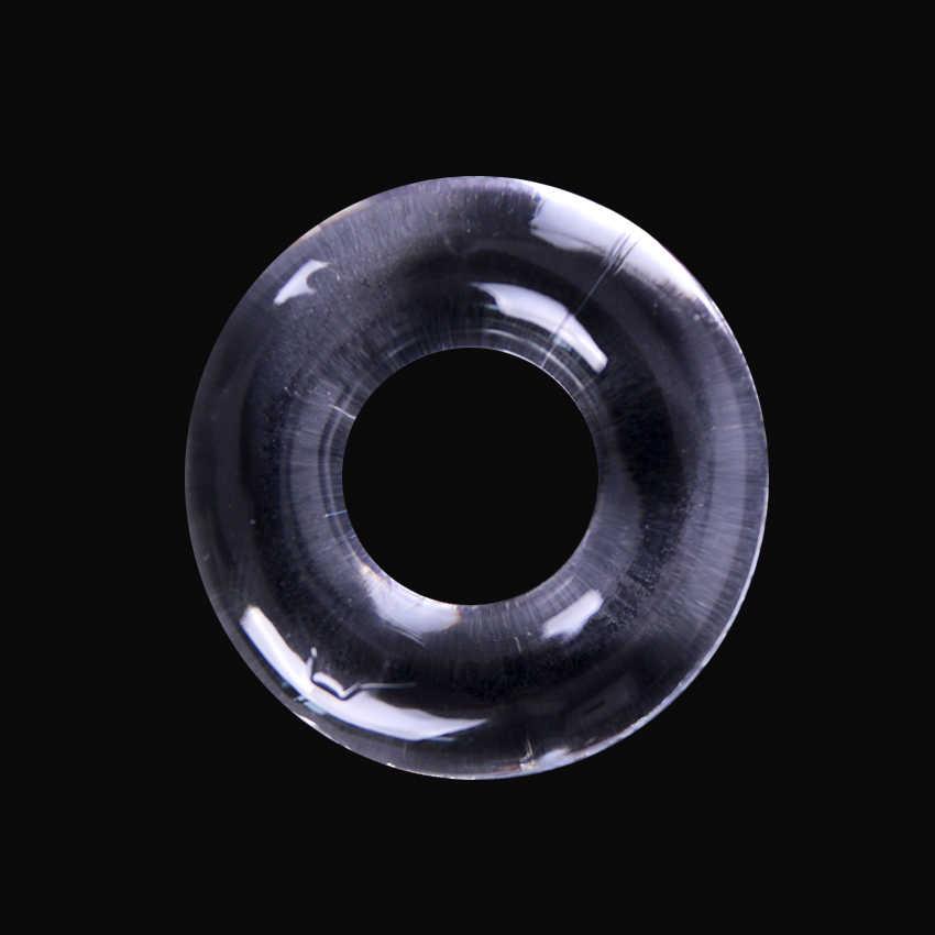 4PCS 실리콘 수탉 반지 지연 사정 투명한 남근 반지 성인 섹스 토이 섹스 제품 남성용