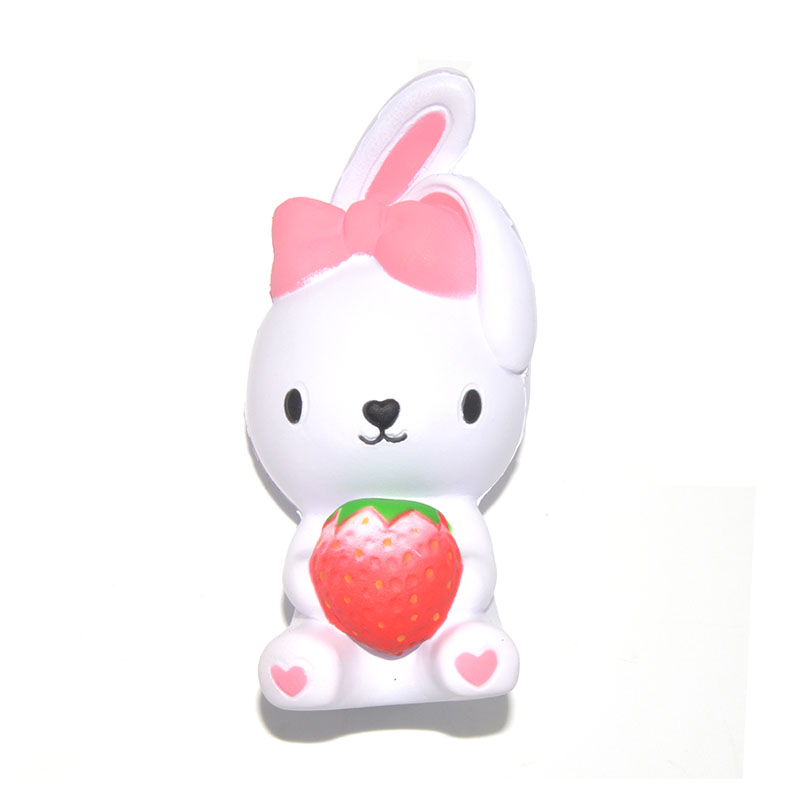 Bunny Wishes Squishy : 10PCS/Lot New Jumbo Slow Rising Bunny Squishy Cute Strawberry Rabbit Bow Collectibles Soft Toy ...