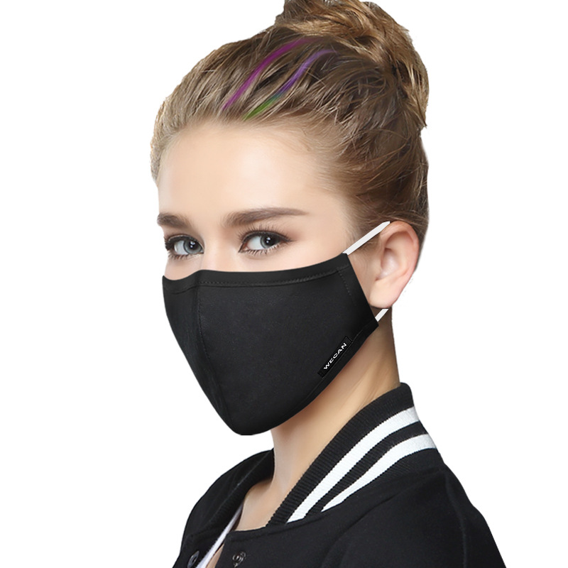 1 Pcs Anti Dust Mask For Women Anti Pollution Mouth Mask Activated Carbon Filter Mouth-muffle Mask Anti PM2.5 Fabric Face Mask