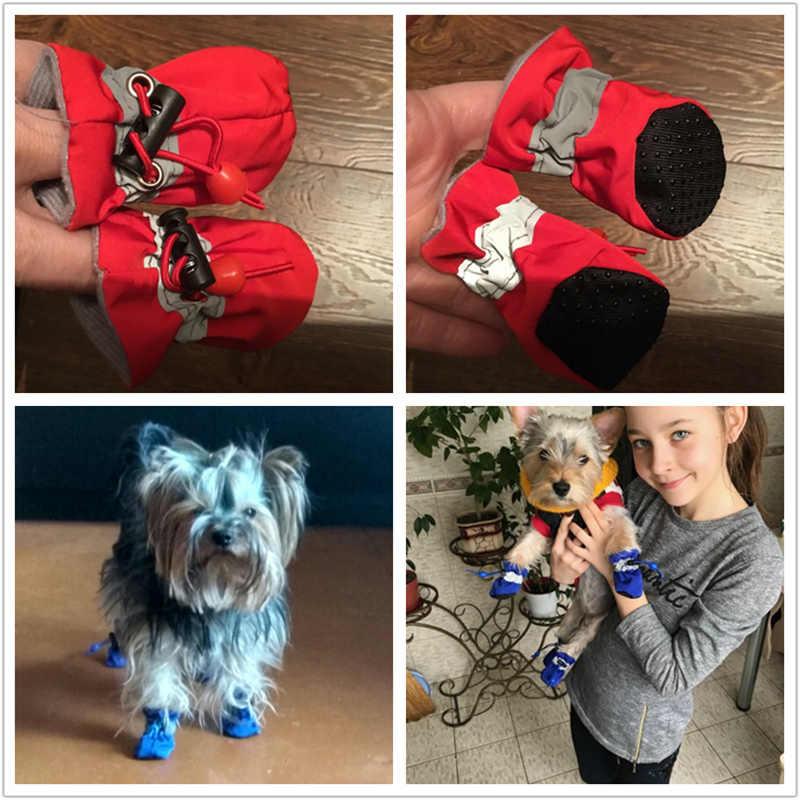 Pet Köpek Ayakkabı Küçük Köpekler Chihuahua Yorkie pamuklu ayakkabılar İlkbahar Yaz Sonbahar Ince Kar Pamuk Köpek Yavru Çizmeler Köpek Çorap