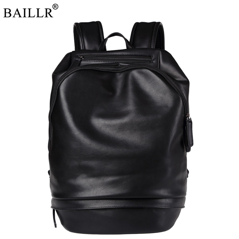 New Preppy Style Men PU Leather Backpack High Quality Youth Travel Rucksack School Bag Male Laptop Business bagpack Shoulder Bag цена