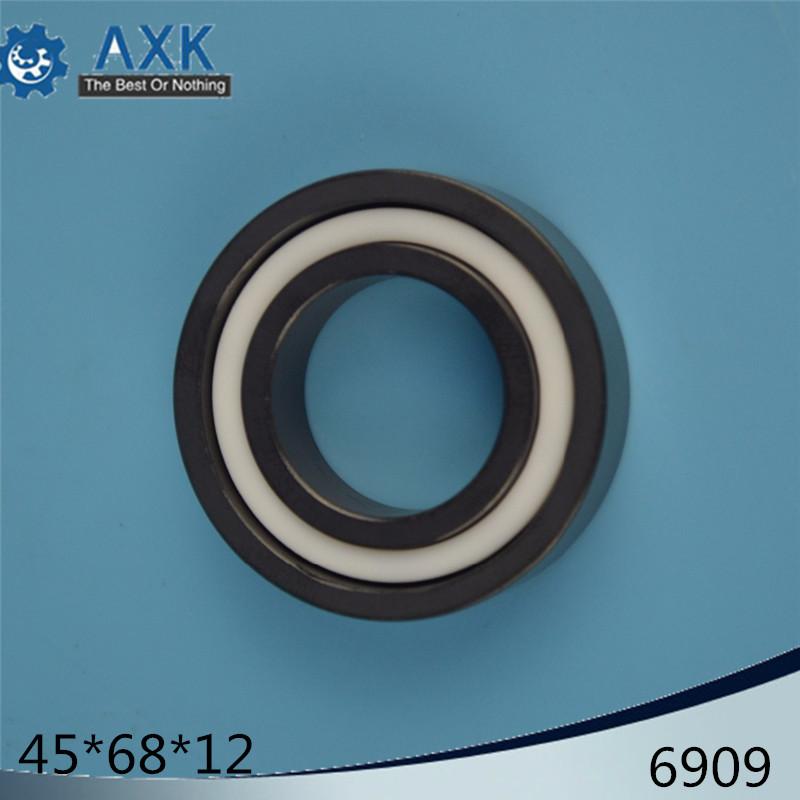 6909 Full Ceramic Bearing ( 1 PC ) 45*68*12 mm Si3N4 Material 6909CE All Silicon Nitride Ceramic 6909 Ball Bearings6909 Full Ceramic Bearing ( 1 PC ) 45*68*12 mm Si3N4 Material 6909CE All Silicon Nitride Ceramic 6909 Ball Bearings