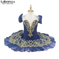 Темно синий конкурсной балетки юбка пачка для ребенка профессиональный сценический костюм пачка Производительность CostumeBT9067B