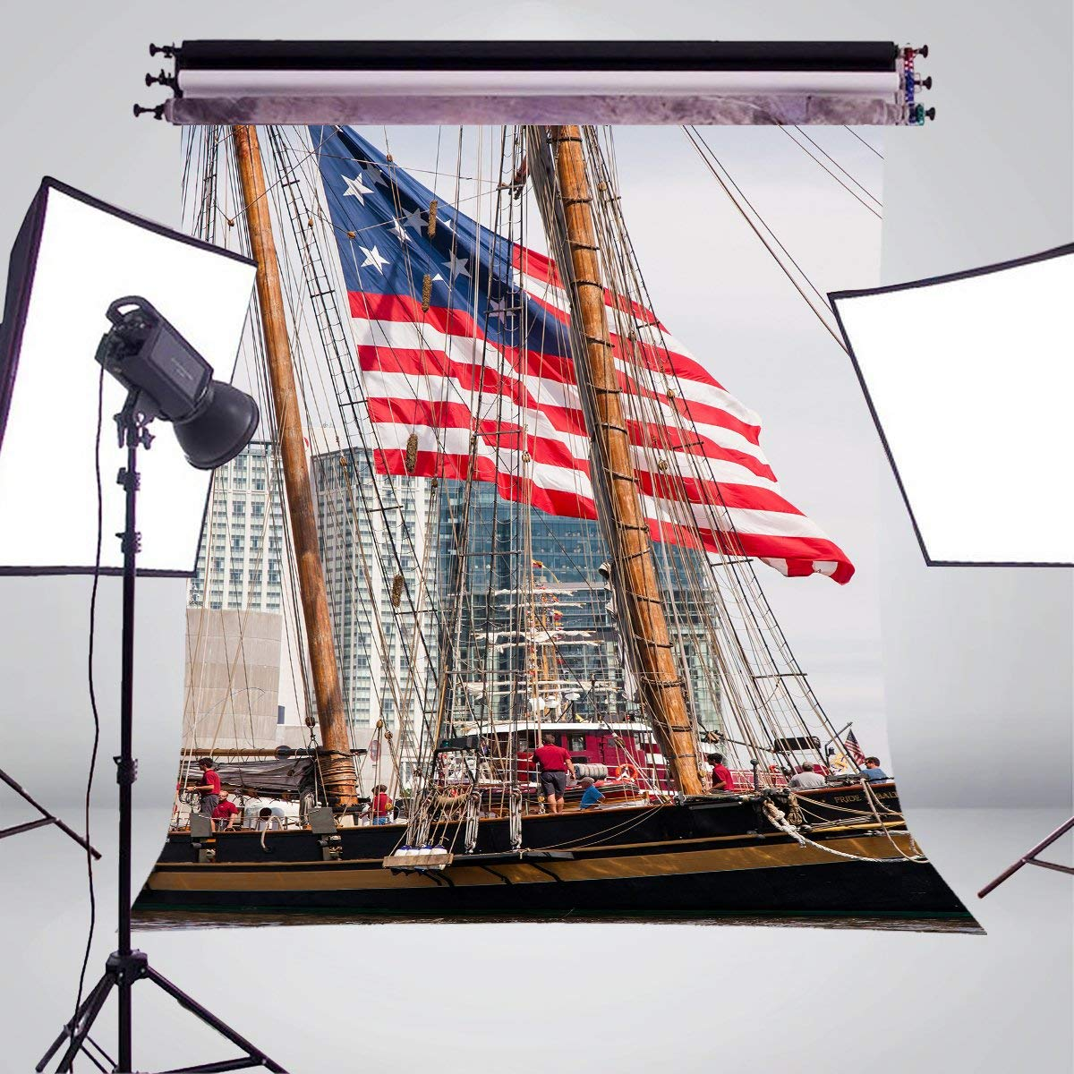 Image 3 - Tall Ships Photography Background Studio Props Wall River water Photography Backdrop 5x7ft-in Photo Studio Accessories from Consumer Electronics
