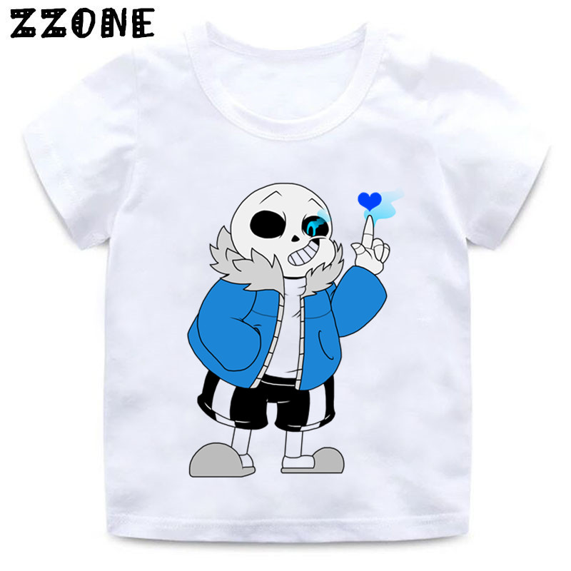 Girls and Boys Skull Brother Undertale Print Funny T shirt Kids - Children's Clothing - Photo 2