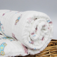 2pcs Lot Newborn Infant 100 Cotton Swaddle Towel Baby Multipurpose Six Layers Of Soft Cotton Gauze