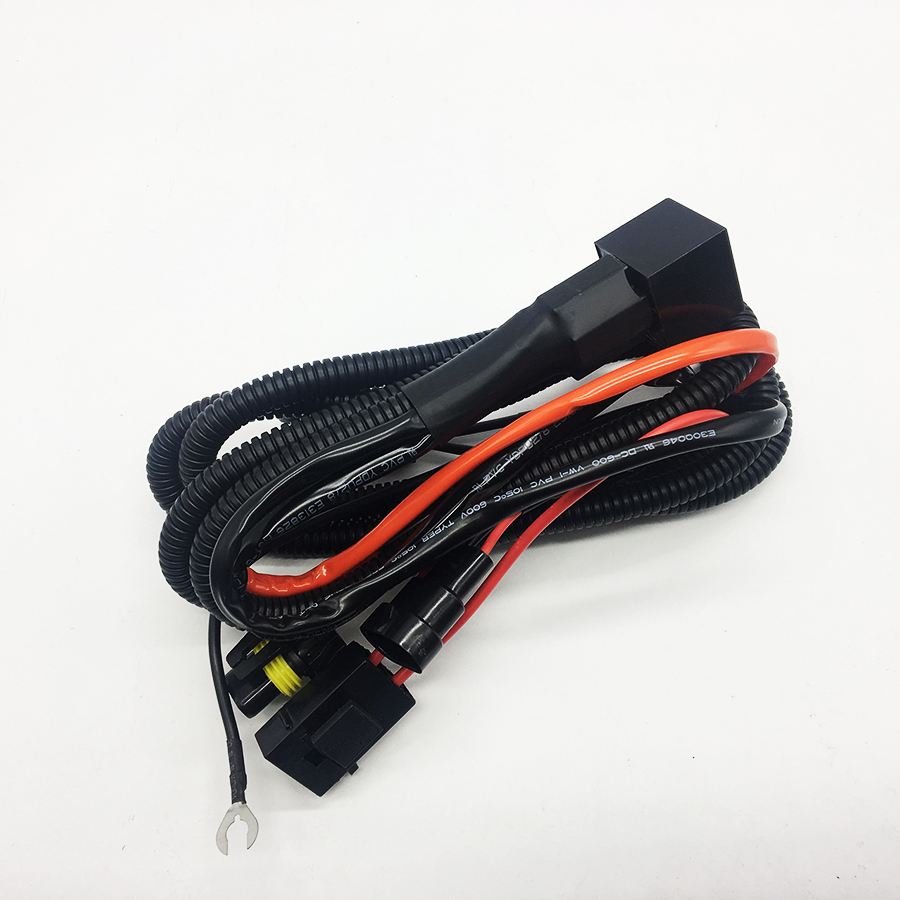 hight resolution of taochis 12v 35w 55w wiring harness controller relay control h1 h3 h7 cable wire 9005 9006 880 881 hid xenon light in wire from automobiles motorcycles on