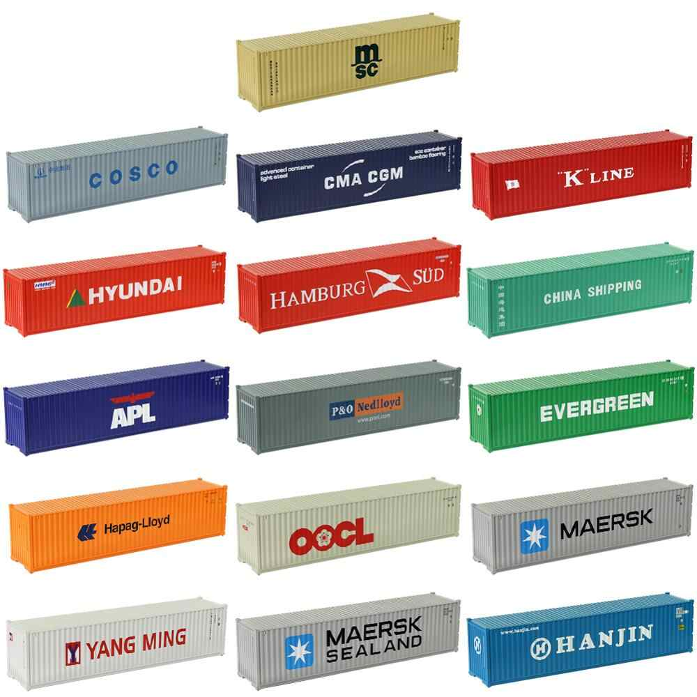 C8746 2pcs 40ft Containers Shipping Container Freight Car HO Scale 1:87 Model Trains Railway Modeling Architectural