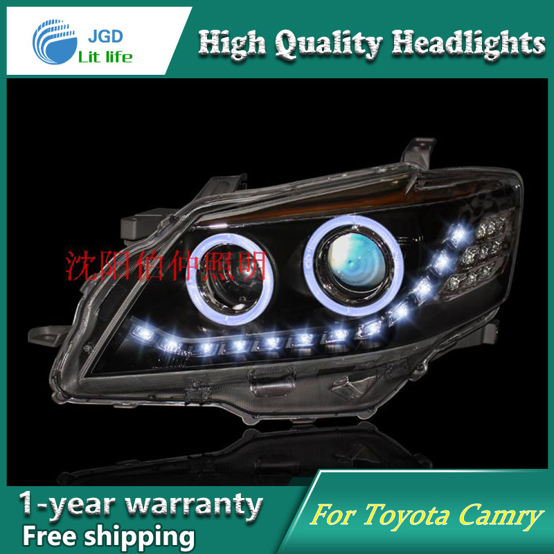 high quality Car styling case for Toyota Camry 2009-2011 LED Camry Headlights LED Headlight DRL Lens Double Beam HID brand new original replacement chorme housing halogen headlights for toyota camry 2007 2009