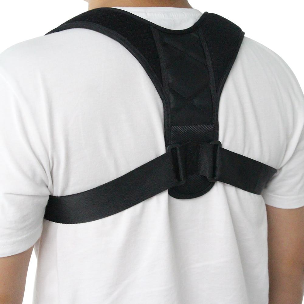 Adjustable Back <font><b>Posture</b></font> Corrector Clavicle Spine Back Shoulder Lumbar Brace Support Belt <font><b>Posture</b></font> Correction Prevents Slouching