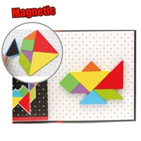 Wooden Magnetic Jigsaw Puzzle Kids Montessori Materials Aid Teaching Educational Toys For Children 3d Puzzles Funny