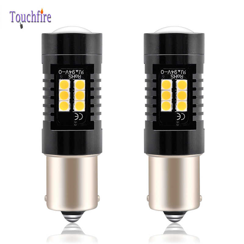 2PCS LED 1156 1157 P21W BA15S PY21W BAU15S Canbus No Error Car Bulb 1200Lm Turn Signal Reverse Light 3030SMD Drop Shipping