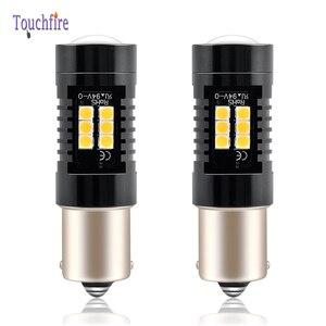 Image 1 - Bombilla LED para coche, luz intermitente trasero de 1200Lm, 12V, para Volvo, P21W, BA15S, PY21W, BAU15S, Canbus, 2 uds.