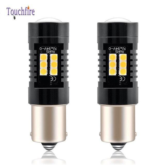 Bombilla LED para coche, luz intermitente trasero de 1200Lm, 12V, para Volvo, P21W, BA15S, PY21W, BAU15S, Canbus, 2 uds.