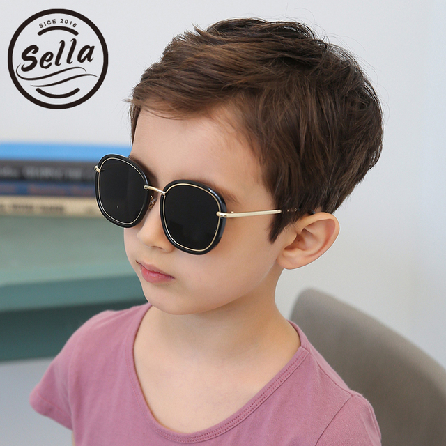 90f1adc998a Sella 2017 Hot Sale Fashion Kids Sunglasses Brand Designer Colorful Film  Square Baby Sun Glasses Reflective