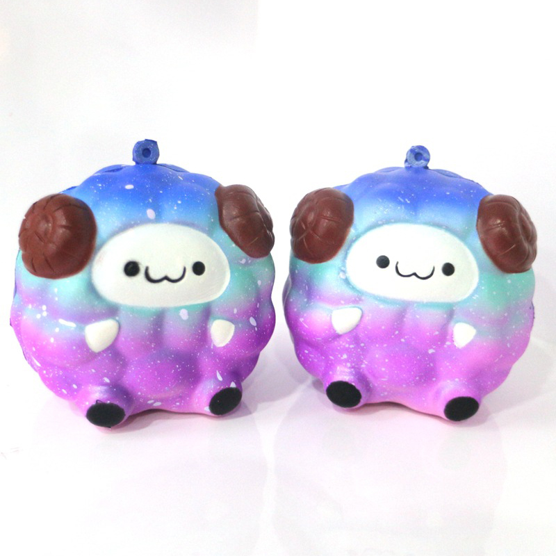 New Kawaii Jumbo Cute Rainbow Squishy Simulation Sheep Cream Scented Soft Slow Rising Squeeze Toy Stress Reliever Kids Gifts