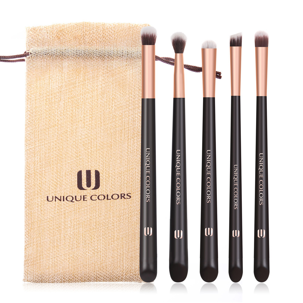 UNIQUE COLORS Make up Brushes Set 5 pieces Eyeshadow Highlighter Eyebrow Concealer Brush Natural Bella Fiber Make Up Brush Tools in Eye Shadow Applicator from Beauty Health