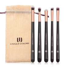UNIQUE COLORS Make-up Brushes Set 5 pieces Eyeshadow Highlighter Eyebrow Concealer Brush Natural Bella Fiber Make Up Tools