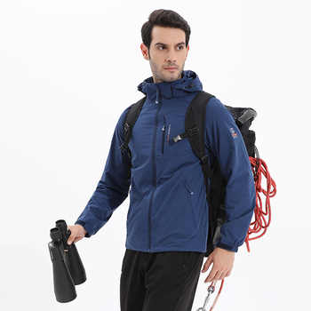 MANLI 2018 New Spring Autumn Mens Softshell Hiking Jackets Male Outdoor Camping Trekking Climbing Coat For Waterproof Windproof