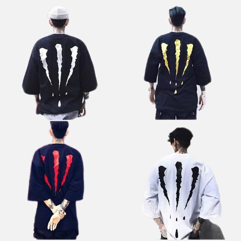 Tide Brand Short-sleeved Men's Half-sleeved Loose Street Hip-hop Trend T-shirt 2019 Summer New Fashion Casual Men's Shirt