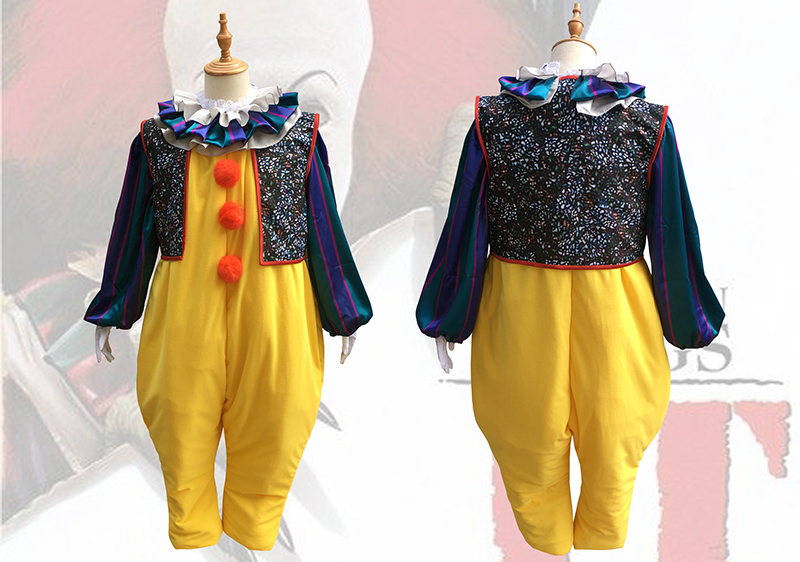 Stephen King's It Pennywise Clown Joker Evil Horror outfit cosplay costume