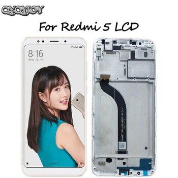 Para Xiaomi Redmi 5 LCD pantalla digitalizador pantalla táctil marco de montaje para Redmi 5 lcd piezas de repuesto negro/blanco 5,7