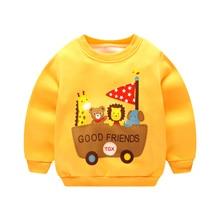 Теплые Топы с рисунком для маленьких мальчиков; модная зимняя одежда для маленьких девочек