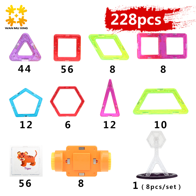 Mini 228PCS 3D DIY Kids Toys Educational Magnetic Blocks Designer Models Creative Construction Enlighten Building Toy Gifts espeon 214 pcs mini castle magnetic blocks building blocks kits 3d construction designer set children diy educational kids toys