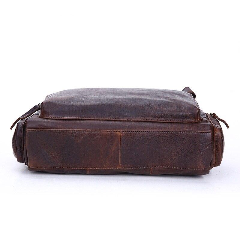 Vintage prave kože muške aktovku torbu poslovne muške laptop - Aktovke - Foto 4